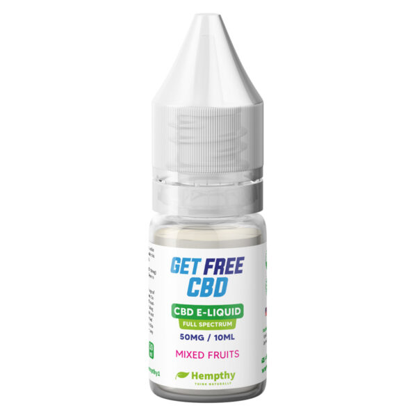 Get FREE CBD - E-Liquid Vape Mixed Fruits Free CBD