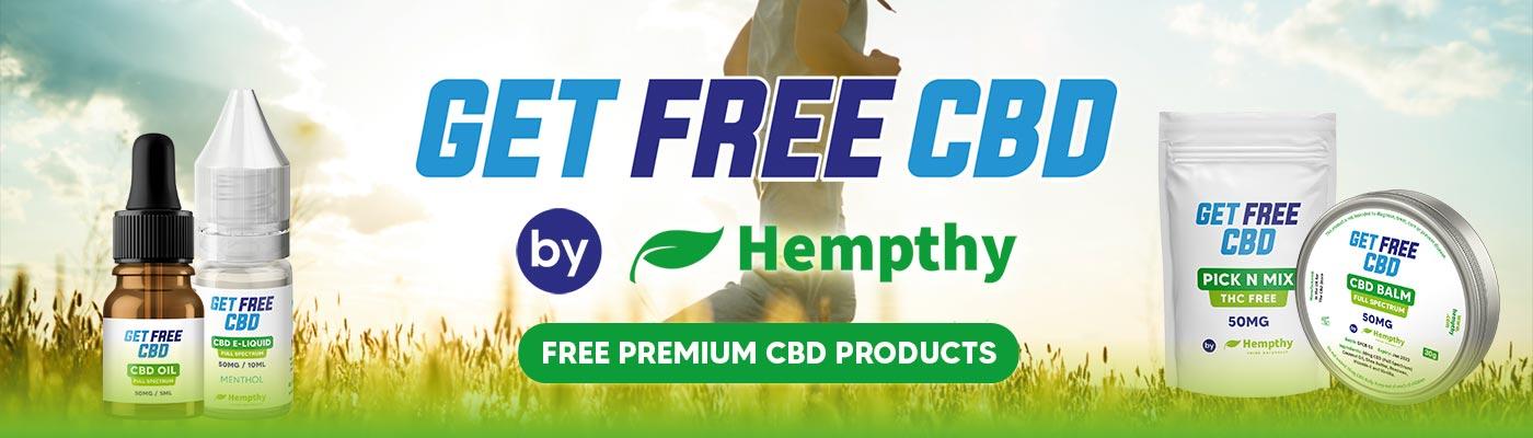 Get free CBD products UK